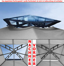 NEU! Kamindach TRANSPARENT durchsichtig Pavillon Dach Ersatzdach PE wasserdicht