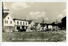 DETAILED Lincolnville Beach RPPC Storefronts—Mobil Service Station—General Store