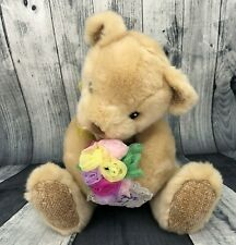 First & Main Blushing Soft Teddy Bear Plush Just For You Rose Bouquet