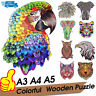 Wooden Jigsaw Puzzles Unique Animal Shape Jigsaw Pieces Best Gift for Adult Kids