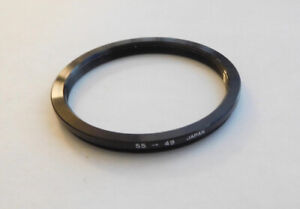 Step Down Ring ~ 55mm To 49mm, Japan, FREE SHIPPING.