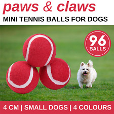 96 X Mini Tennis Balls 4cm | Pet Chew Toys Dog Catch Toy Puppy Training Ball