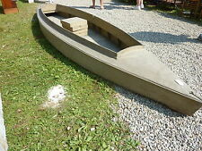 c1920 14' LONG duck boat canvas SOLID CAROGA LAKE, NY adirondacks last use 1940