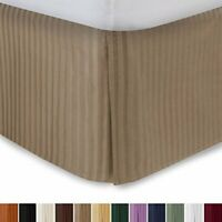 """Harmony Lane Tailored Bedskirt with 18"""" Drop, King Size, Camel Sateen Stri.."""