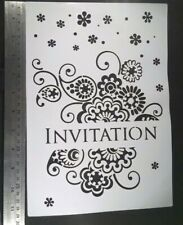 A4 Wall Stencil Reusable Template Invitation Home Decor Mask Scrapbook Party Art