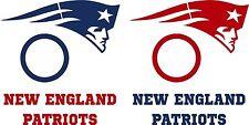 New England Patriots Cornhole Decal Set - 6 Cornhole Decals Free Circles