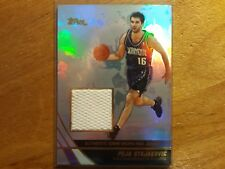 PEJA STOJAKOVIC 2004 TOPPS GAME USED JERSEY PATCH KINGS PELICANS SERBIA! --