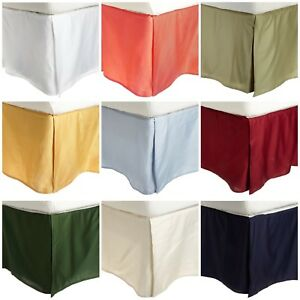 "1 Pc 800tc Egyptian Cotton Solid Tailor Bed Skirt with 15"" drop all size & color"