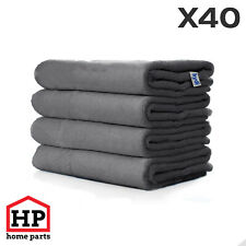 40 X Professional Washable Microfibre Cloths Extra-Large Super Thickness Grey