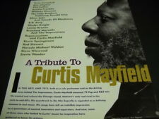 Curtis Mayfield 1994 Tribute Promo Ad Elton John Springsteen Whitney Houston etc