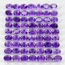 65p 10.60 Ct 4x3mm Oval Cut Natural Intense Purple Amethyst Uruguay Unheated Lot
