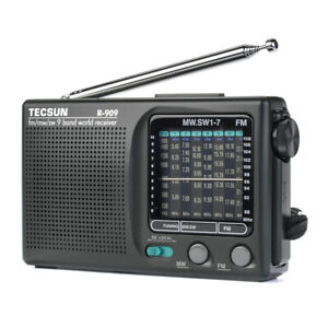 TECSUN R-909 Portable Radio FM MW(AM) SW(Shortwave) 9 Bands World Receiver HOT Q