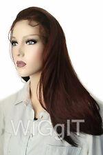Rianne | Caoba | Elegante Moda Idol 101 | Recta Larga Encaje Frente Peluca
