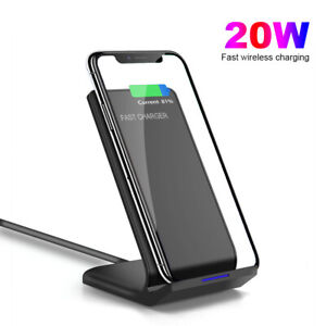 20W Qi Fast Wireless Charger Dock Stand For Apple iPhone 12 Pro Samsung S20 S21+