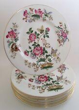 WEDGWOOD CHARNWOOD Bone China Butterfly Floral Dinner Plates Set of 8