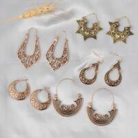 Bohemian Filigree Earrings Boho Vintage Ethnic Hollow Chandelier Earrings