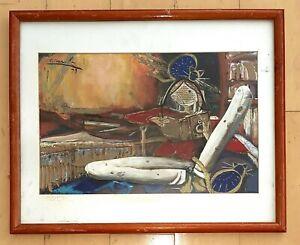 ALBERTO GIRONELLA  GOUACHE INK ON PAPER PAINTING