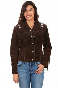 Scully Women's Boar Suede Laced Jacket L758