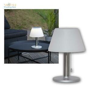 LED Solar Tisch Lampe Solia Stainless Außen tisch leuchte Dimmable Garden +