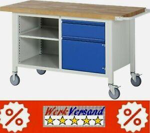 statt € 769,69 wie Bild fahrbare Werkbank Werktisch 1250x700x880 mm BxTxH.Profi