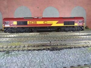 Hattons Class 66. H4-66-009. 66218 Euro Cargo Rail. EWS colours DB Branding.