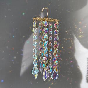Glass Sun Catcher Pendant Rainbow Maker Prism Wind Chimes Window Hanging Decor