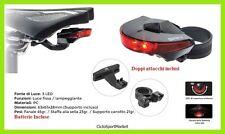 Luce fanale posteriore bici bicicletta corsa  LED doppio attacco batterie inclus