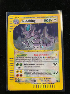 Pokemon Card Aquapolis Nidoking Crystal 150/147 Holo Rare LP