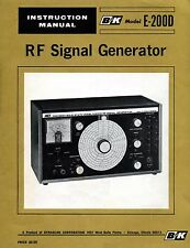 B&K E-200D RF Signal Generator Manual w/Schematic - B & K - PDF on CD