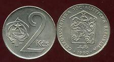 TCHECOSLOVAQUIE  2 koruny 1990