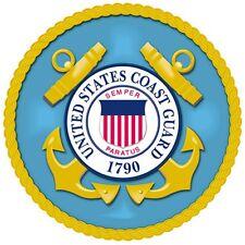 "US Coast Guard Emblem 8"" x 8"" Printed Fabric Quilting Block COTTON Fabric"