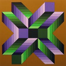 "Victor Vasarely ""Mata Fem"" Signed Artwork Serigraph Op-Art SUBMIT BEST OFFER!"