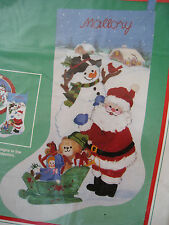 Dimensions Crewel Stitchery Christmas Stocking KIT,HAPPY HOLLY DAYS,Mock,8065,16