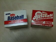 2 Traded Update 1-Topps 1986 set w/ Bonds still taped, & 1 Fleer 1986 w/ Bonds
