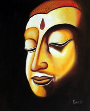 24X36 INCH BUDHA PORTAIT RELIGIOUS ART BUDDHA HAND MADE OIL PAINTING REPR 195