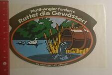 Aufkleber/Sticker: Platil Angler fordern rettet die Gewässer (25011754)