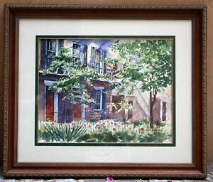 "MAGNIFICENT WATERCOLOR PAINTING BY RICHARD LOW EVANS ""SUMMER AFTERNOON"" AMERICAN"