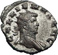 Gallienus  253AD Milan Authentic Silver Ancient  Roman Coin Laetitia Rare i58986