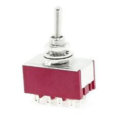 6A /125 V ca 2 A / 250 V ca 12 Pin 4PDT ON / ON Mini interruttore a levetta K3A4
