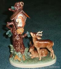 """Forest Shrine"" Goebel Hummel Figurine #183 TMK6 Doe And Buck In Woods GIFT!"