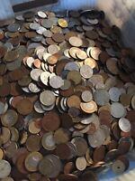 Huge Mixed Bulk Lot of 1000 Assorted World/Foreign Coins! Nice Starter Lot!