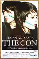 TEGAN AND SARA 2017 Gig POSTER Portland Oregon Concert The Con 10th Anniversary