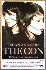 TEGAN AND SARA 2017 Gig POSTER Portland Oregon Concert The Con 10th Anniversary