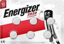 Pile CR2032 Energizer lot de 6 piles bouton lithium 3V BR2032 DL2032 ECR2032