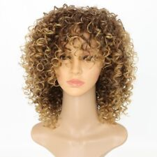 Blonde Kinky Curly Wig Afro Soft Synthetic Wig Fashion #FA3