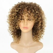 Blonde Kinky Curly Wig Afro Soft Synthetic Wig Fashion LN8C