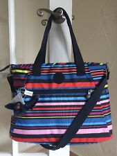 Kipling Lizabeth Travel Tote Carryall with Laptop Protection Walking on Air