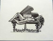 Erotic Ex libris - bookplate, Gerard Gaudaen *1927 (Belgium)