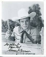"""SUNSET CARSON """"B"""" WESTERN MOVIE ACTOR ALIAS BILLY THE KID SIGNED PHOTO AUTOGRAPH"""
