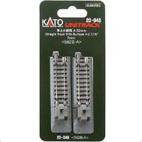 Kato 20-046 Rail Fin de Voie / Single Track With Bumper A 62mm 2pcs - N